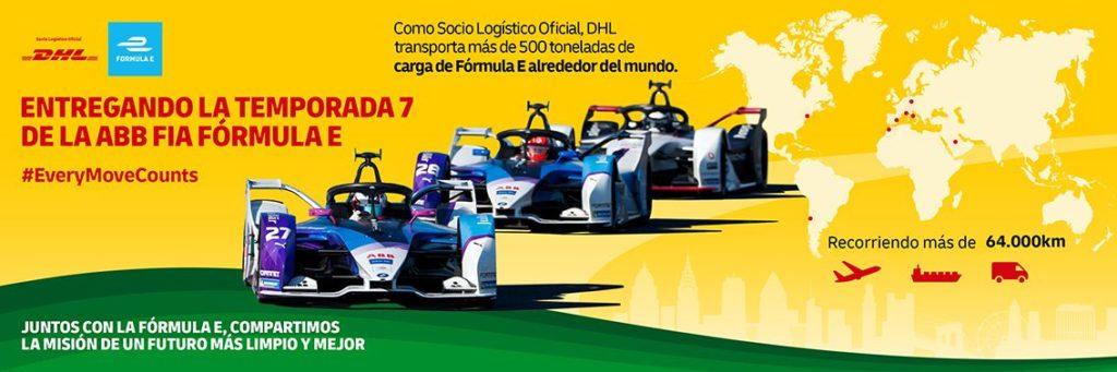 Foto de DHL socio principal de la Fórmula E
