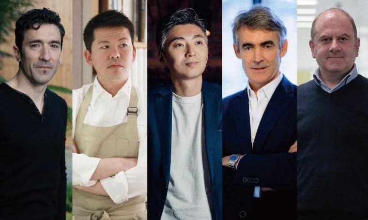 Foto de De izquierda a derecha: Eneko Atxa, Ryohei Hieda, Richie Lin,