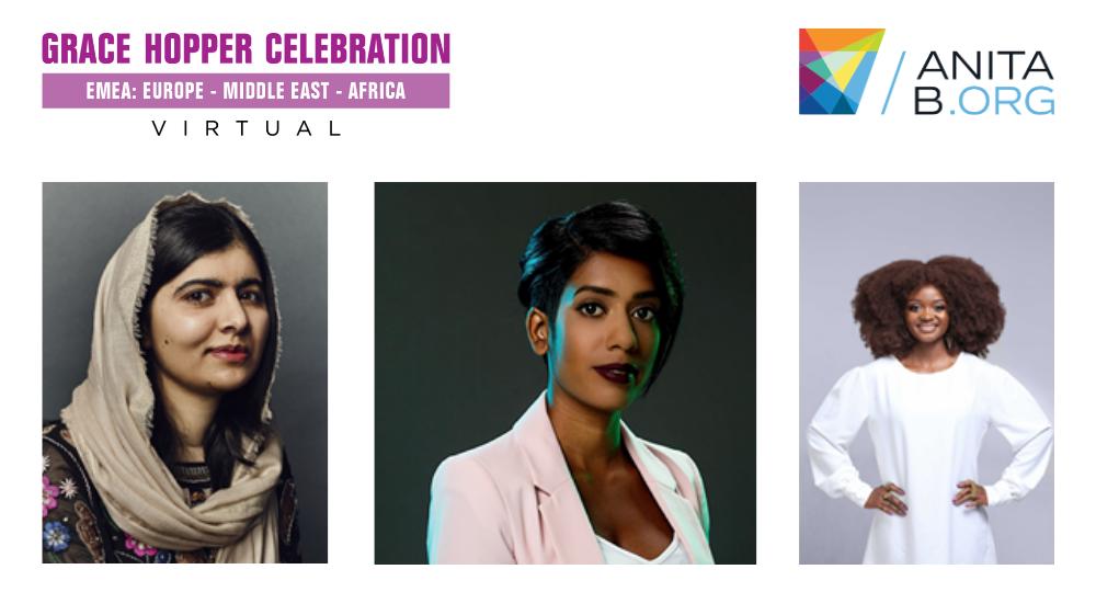 Foto de Malala Yousafzai,  Sheree Atcheson y Evelyn Namara en la