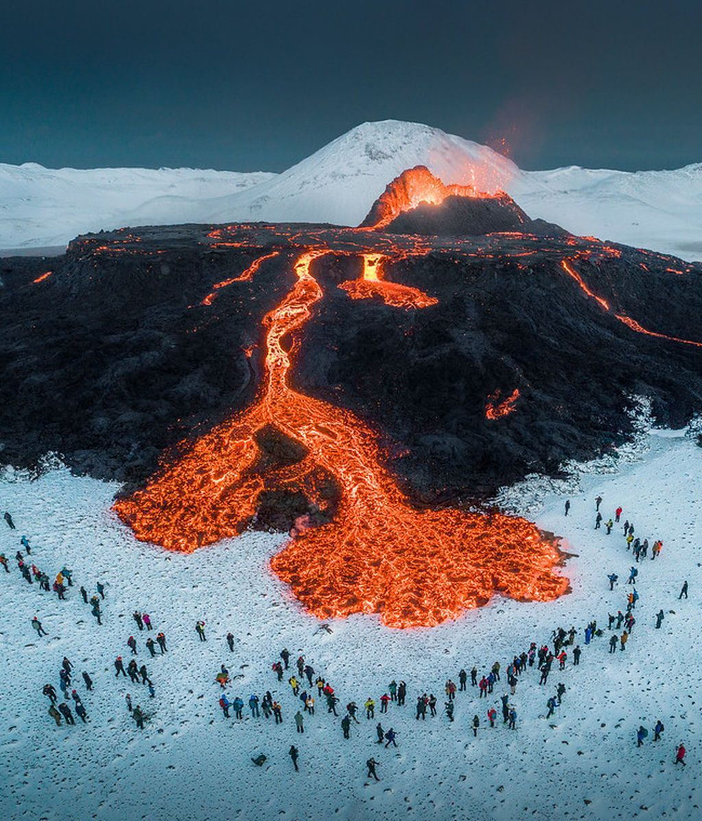 Foto de Volcán en erupción en Islandia
